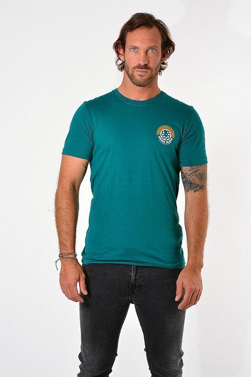 JONSENISLAND - T-SHIRT CLASSIC RAINBOW - Green