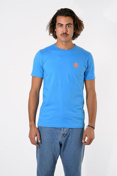 JONSENISLAND - T-SHIRT CLASSIC BIG LABEL - Blue