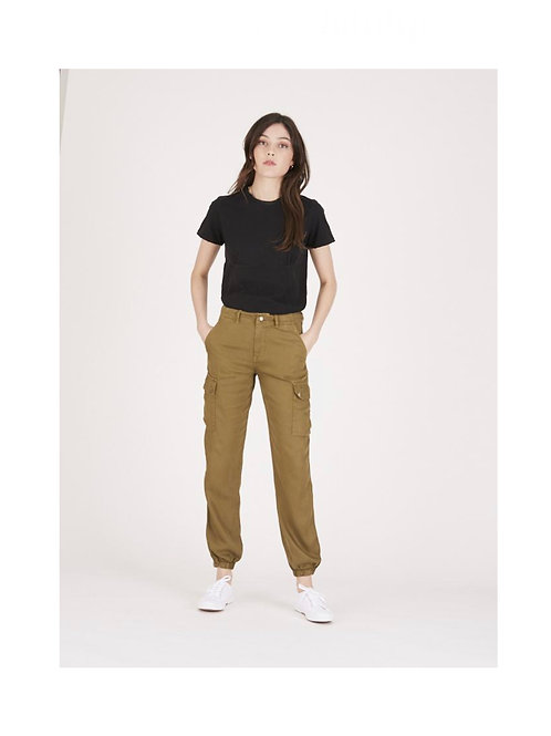 LABDIP - PANTALON MONA TENCEL - ALGUE