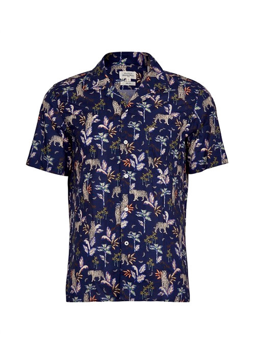 HARTFORD - CHEMISE SLAM - NAVY BLUE JUNGLE