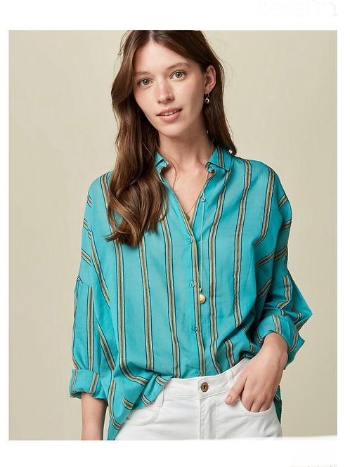 SESSUN - CHEMISE BOTAN EMERAL STRIPES