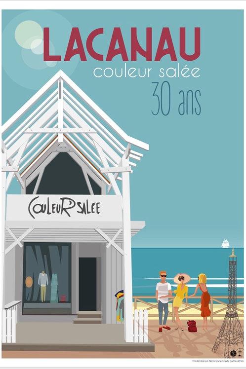 COULEUR SALEE - AFFICHE 30 ANS