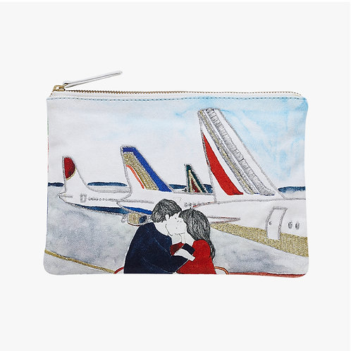 INOUITOOSH - POCHETTE BRODEE FLIGHT ROUGE