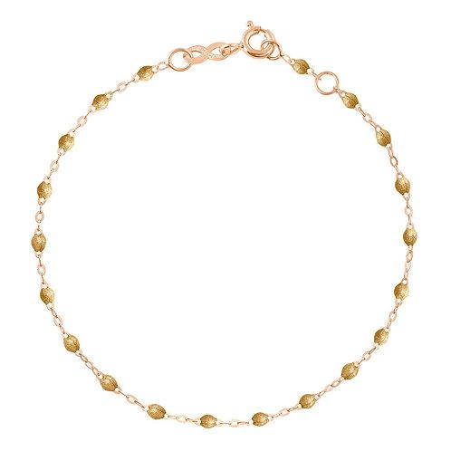 GIGI CLOZEAU - BRACELET OR ROSE PERLES RESINE - GOLD