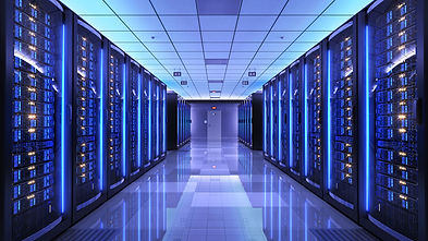 Server racks in server room data center.