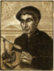 portait of Yiannis Kefallinos woodcut