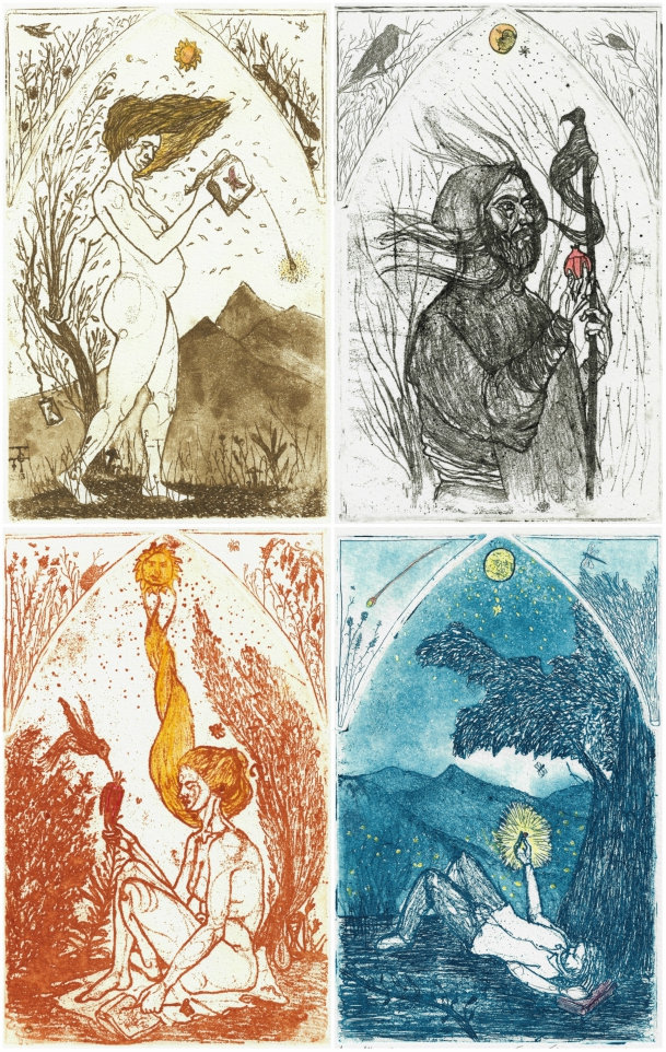 the four seasons, etchings, pantazis tselios