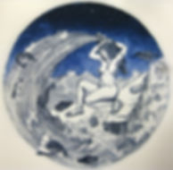 mare or amphitrte, etching, aquatint, patazis tselios