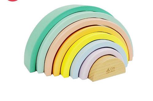 Pastel Stacking Rainbow