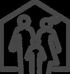 Iconfinder Famly safe shelter donate