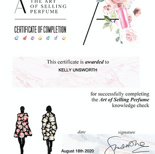 The Art of Selling Perfume Certificate Aug 2020