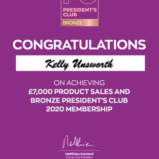 Bronze Presidents Club 2020