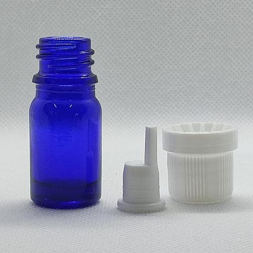 Kit 10 vidros para aromaterapia 5 mls com gotejador e tampa lacre