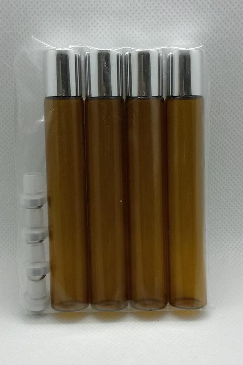 Kit 4 Roll on vidro ambar 10 mls Aromaterapia