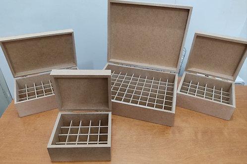 Caixa em Mdf CRÚ para 20,30,40 ou 80 Óleos Essenciais