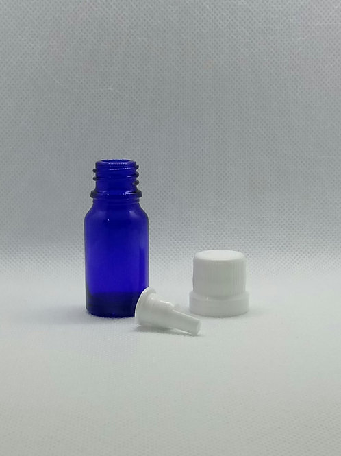Kit 10 vidros para aromaterapia 10 mls com gotejador e tampa lacre