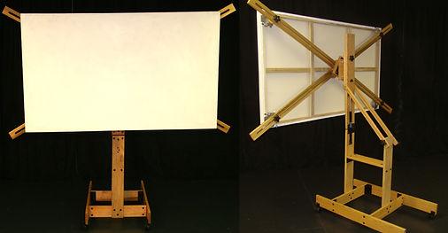 Windmill easel, artist easel, revolving