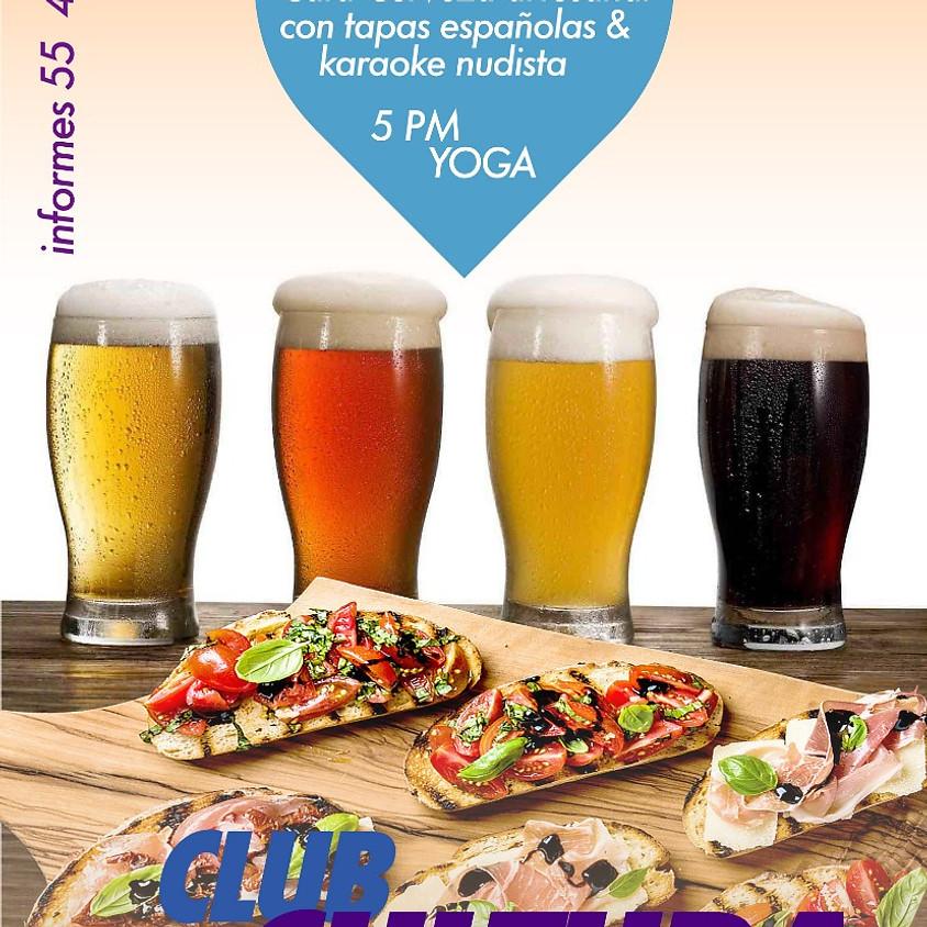 Clase de Yoga, Karaoke y Cata de Cerveza Artesanal y Tapas