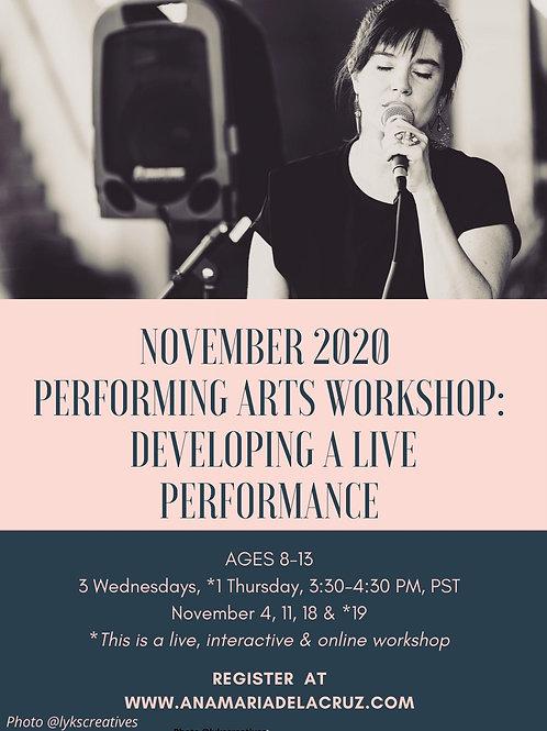 November 2020 Performing Arts Workshop