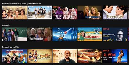 Comedy's op Netflix