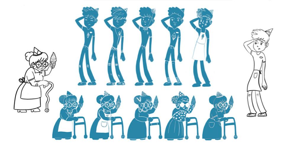 Ice Cream Shoppe Character Study