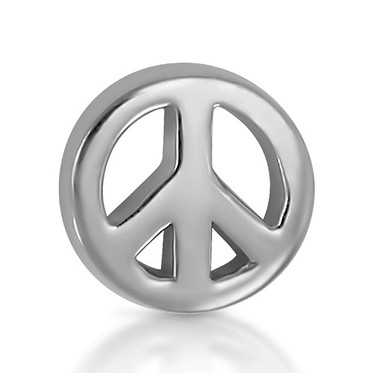 14k White Peace Sign