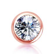 14k Rose Diamond Bezel