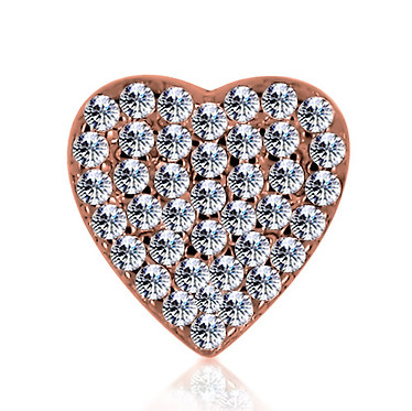 14k Rose Diamond Heart