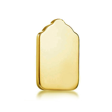 14k Yellow Engraveable Tag