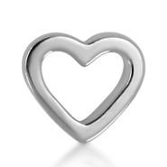 14k White Open Heart