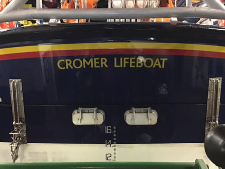 RNLI Cromer's All Weather Boat 'LESTER' returns