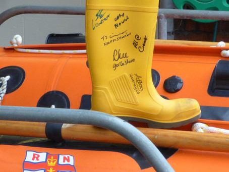 RNLI Welly moves along Norfolk Coast