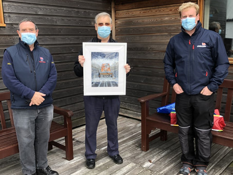 'Lester' painting donated to RNLI Cromer