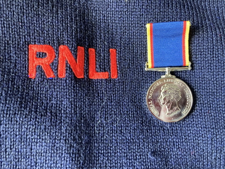 Cromer RNLI volunteer awarded 20 year medal