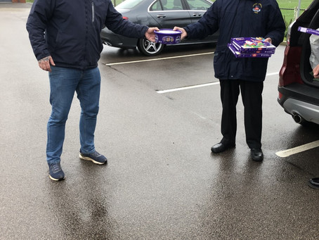 Chocolates for RNLI Cromer crew and families