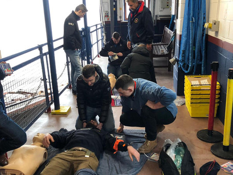Casualty Care training completed by RNLI Crews