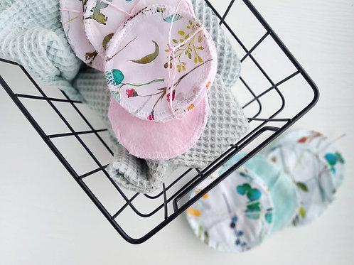 Arctisztító korong, akvarell virágok/rózsaszín
