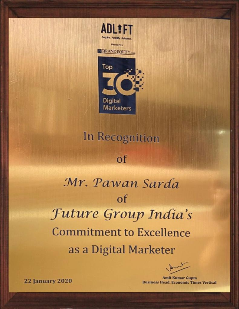 Pawan Sarda - Top 30 Digital Marketer