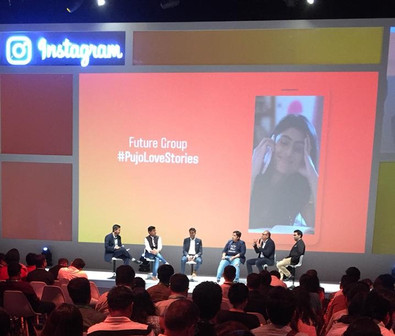 """Presenting """"Pujo Love Story"""" at Instagram India Event."""