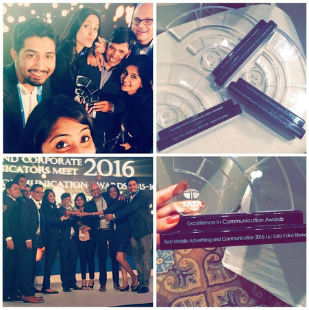 Awarded  by Tata group chairman for most innovative mobile campaign for FACEBOOK Social Sell.