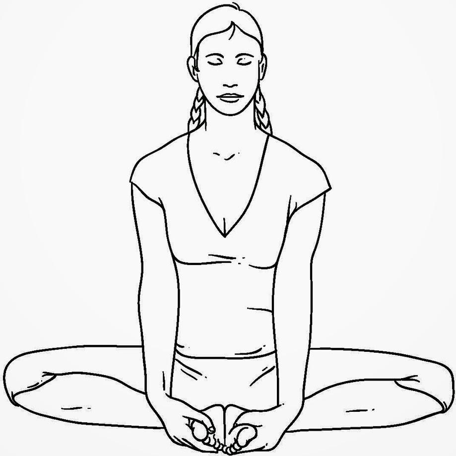 Posture de yoga bhadrasana