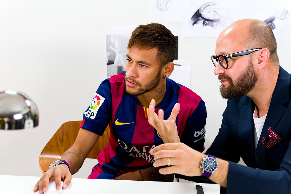 Neymar designing his own watch. Set design and production in Barcelona.