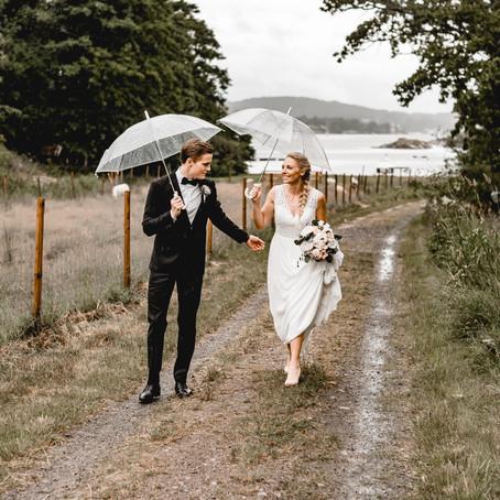 Bryllup en regnværsdag på Engø Gård
