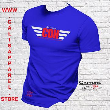 Cali's apparel CDH Royal/Red/White Unisex Crew neck Tee