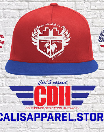 Cali's apparel Logo Red/Royal/White Snapback