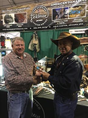 Another satisfied customer buying a Feldman Custom Knife