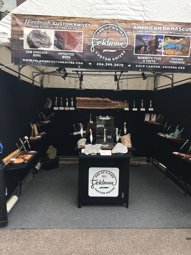 Feldman Custom Knives booth in Aspen