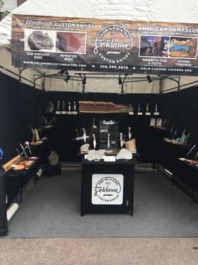 Feldman Custom Knives booth in Aspen