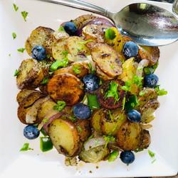 roasted potato blueberry dish