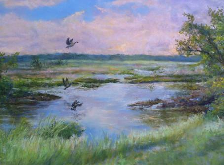 """Pastel Painting: """"Landing Zone"""""""